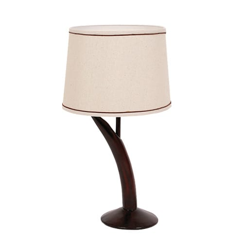 Resin table lamp with hessian shade lamp factory for Bedside table lamp shades